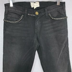Current/Elliott Black Skinny Jeans with Studs 26